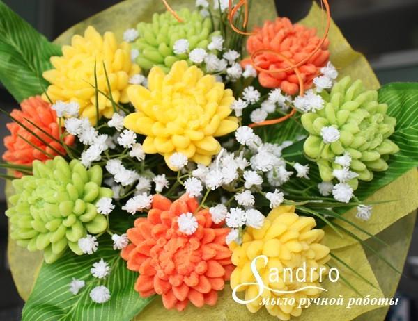 Цветы из мыла «Весна»