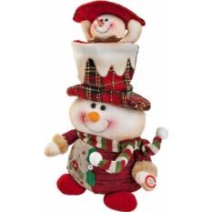 Электромеханическая мягкая игрушка Снеговик