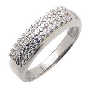 Кольцо с 35-ю бриллиантами