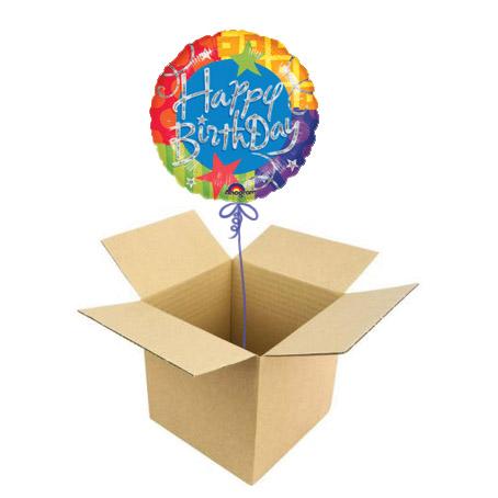 Шар в коробке Happy birthday
