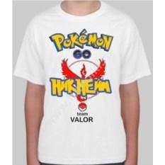 Детская именная футболка Pokemon go team valor
