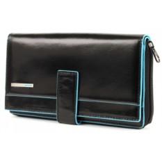 Черное женское портмоне Piquadro Blue Square