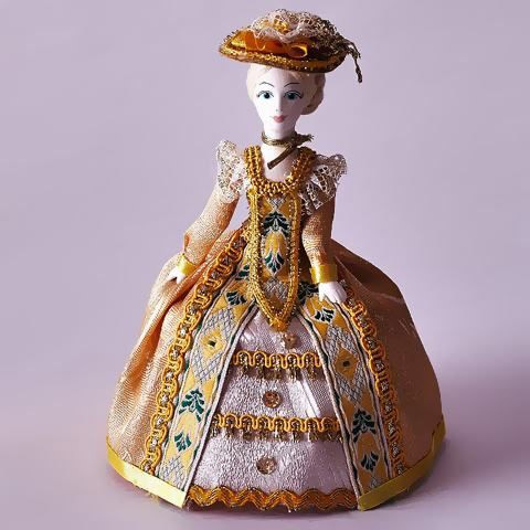 Кукла-шкатулка «Девушка в шляпке»
