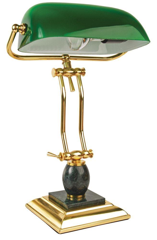 Настольная лампа, зеленая