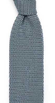 Светло-серый галстук Sozzi вязаный из шёлка