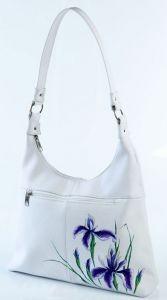 Кожаная сумка Цветы ириса