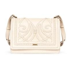 Женская сумка из натуральной кожи (цвет — бежевый)