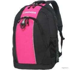 Черно-розовый рюкзак Wenger School