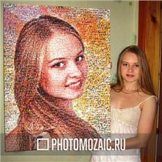 Фотомозаика – оригинальный подарок девушке