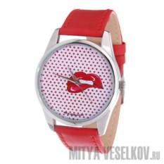 Часы Mitya Veselkov Губы с красным фоном