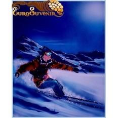 Картина Swarovski Лыжник в горах