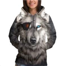 Женская толстовка 3D Волк с повязкой