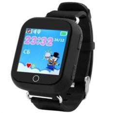 Черные детские часы с GPS Smart Baby Watch GW200S