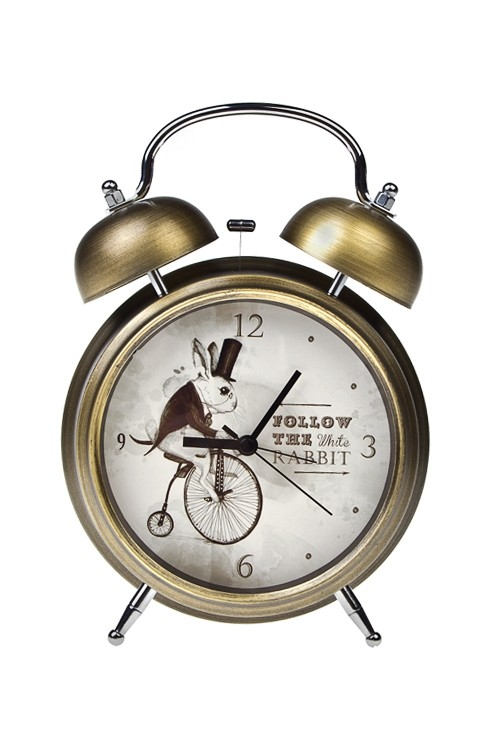 Часы-будильник настольные Следуй за белым кроликом