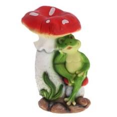 Декоративная садовая фигура Мухомор с лягушонком