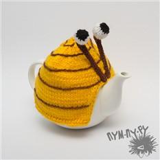 Нахлобучка на чайник Улитка (желтая)
