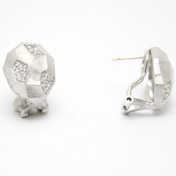 Серьги из серебра с цирконом