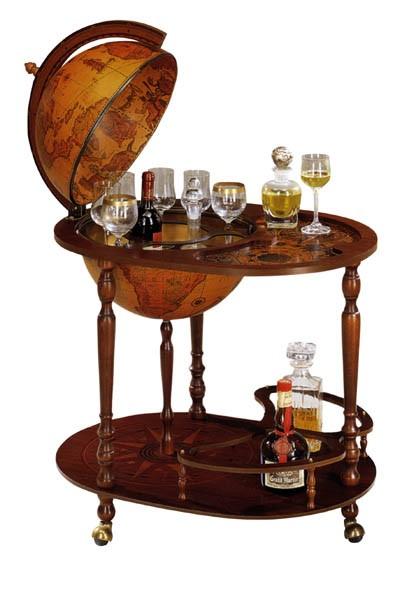 Глобус-бар со столиком Zoffoli (3 ножки)