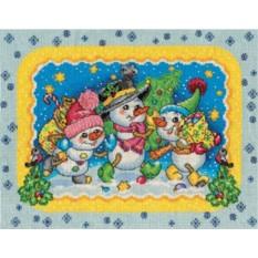 Набор для вышивания Веселые снеговики