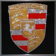 Картина с кристаллами Сваровски Porsche