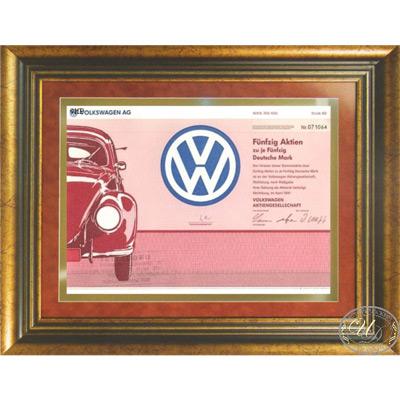 Volkswagen AG. Сертификат на 50 акций,1991 год