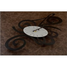 Настенные часы Овал (черные)