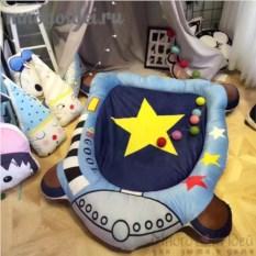 Теплый детский игровой коврик Космические приключения