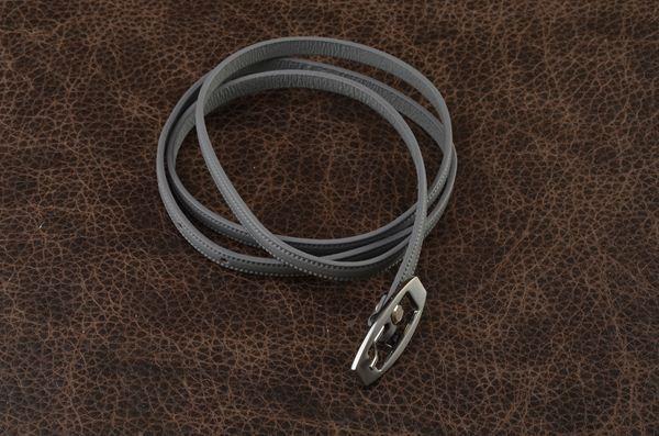 Кожаный ремень. Коллекция FAVORIT (серый)