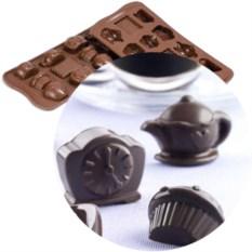 Форма для шоколада «Чаепитие» EasyChoc Silikomart