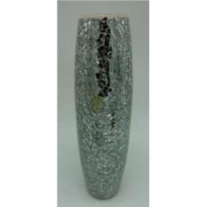 Серебристая декоративная ваза