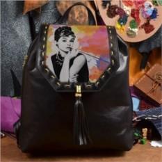 Женский кожаный рюкзак ручной работы Великая Одри