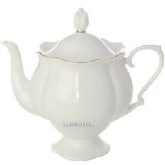 Заварочный чайник Золотая лента (фарфор)