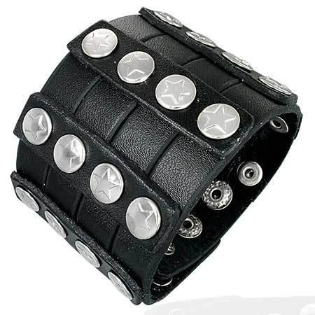 Мужской кожаный браслет Fashion Steel
