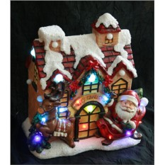 Новогодняя композиция Дом Деда Мороза