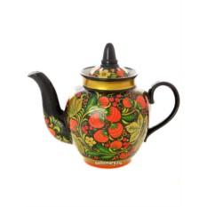 Заварочный чайник с художественной росписью Хохлома