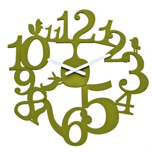 Настенные часы Pip, оливковый, Koziol