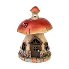 Садовая фигурка с фонарем Белый гриб