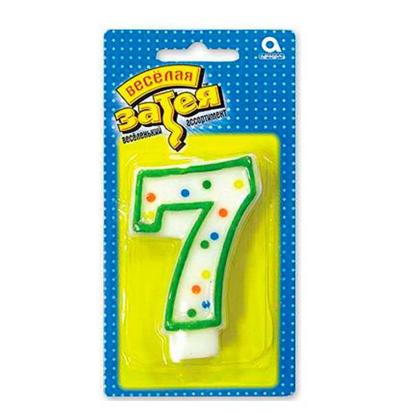 Свеча-цифра для праздника от Веселая Затея
