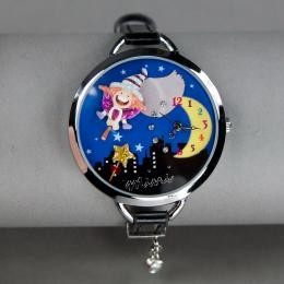 Синие часы «Миниатюра»