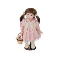Фарфоровая кукла Милена с мягконабивным туловищем