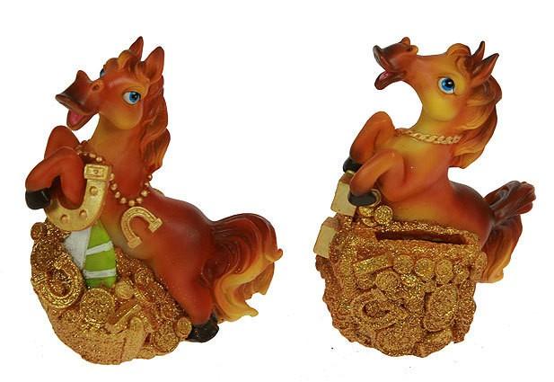 Фигурка декоративная Лошадь с подковой