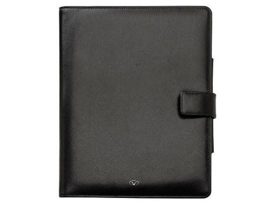 Черный кожаный чехол для iPad Visconti