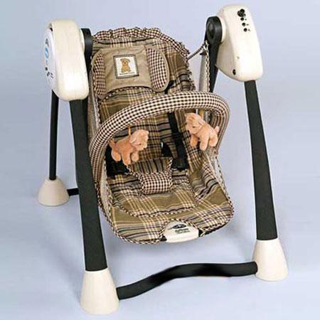Электронные качели для малышей с плеером