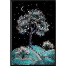 Картина с кристаллами Swarovski Зимняя вишня