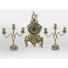 Каминные часы с канделябрами Ласу