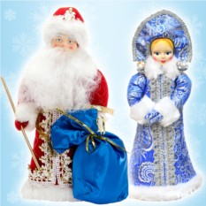 Набор игрушек под елку «Дед Мороз и Снегурочка»