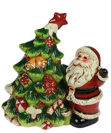 Фигурка Дед Мороз с ёлочкой, с подсветкой