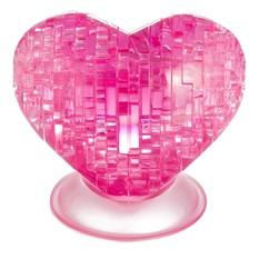 3D пазл Розовое сердце Crystal Puzzle