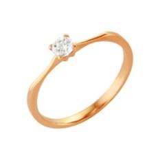 Позолоченное кольцо со вставкой из фианита