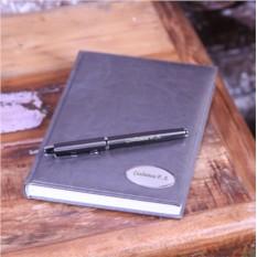 Подарочный набор: ежедневник и ручка Parker Silver
